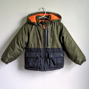 OshKosh Fleece Lined Winter Jacket - Green/Navy